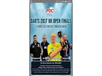 Butlins Minehead Darts Weekend March 2017 for 6 people