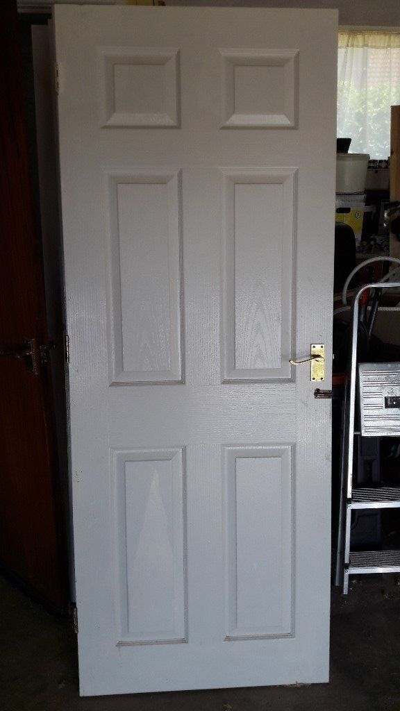 White Six Panel Internal Doors Complete With Hinges Handles And