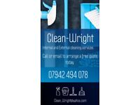 Clean-Wright window and domestic cleaning