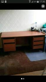 Desk and chair vgc