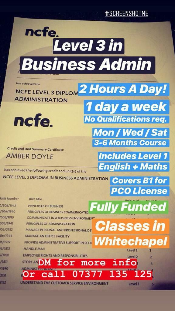 FREE COURSES LEVEL 3, 4, 5+ and Degree in BUSINESS, HEALTH & SOCIAL