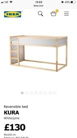 Kids reversible bed from ikea