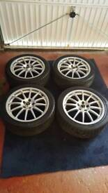 5x108 pcd team dynamics pro race 1.2 alloy wheels used