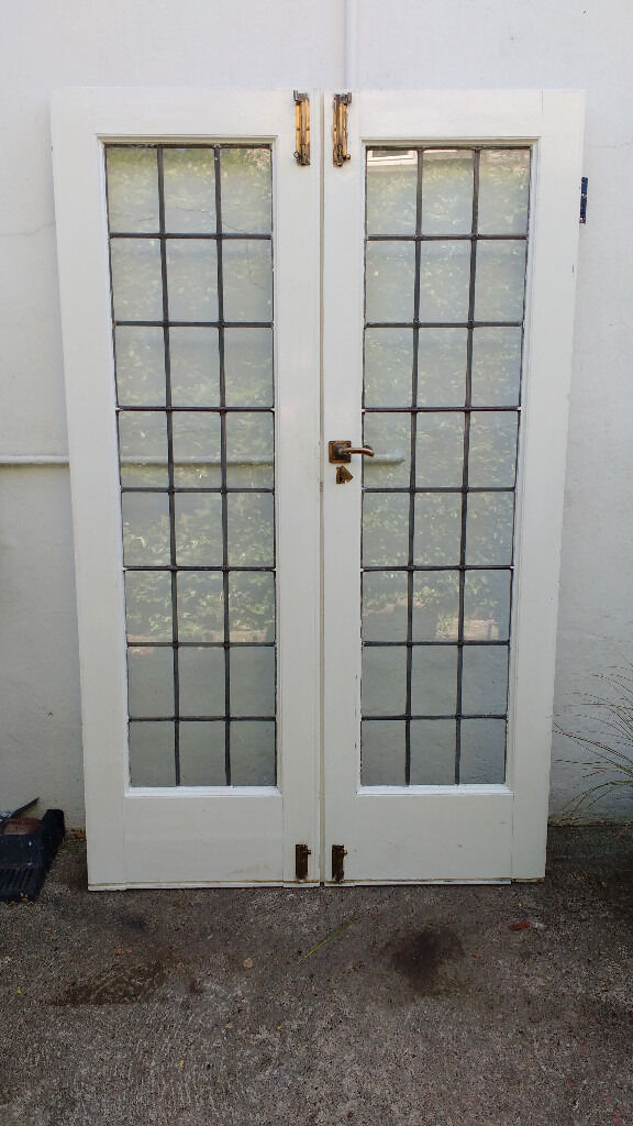 1930s Leaded French Doorsin Pickering, North YorkshireGumtree - Pair of original period 1930s wooden French doors with leaded glass. Complete with original brass handles, lock and bolts. Excellent condition. Size Height 198cm Total width 122cm