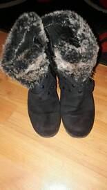 Size 4 wedge boots