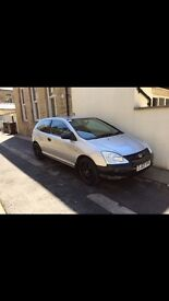 04 Honda Civic 1.4 imagine silver 17 inch alloys pet free bargain cheap economical first time car px