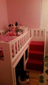 Princess Playhouse Bed (With Stairs)