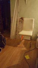 White sturdy chair
