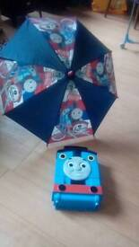 Thomas the tank.take along carry case and brolly