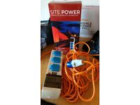 Site power 20m tent mains adapter