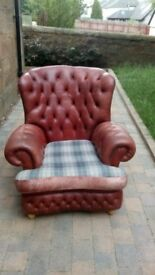Vintage Chesterfield Armchair
