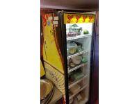 £120 ono - Glass door drinks fridge with Sol branding