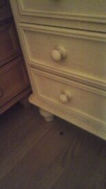 Bedroom furniture, wardrobe, desk/ or dressing table, drawers and single bed base