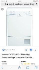 indesit condenser tumble dryer for spares