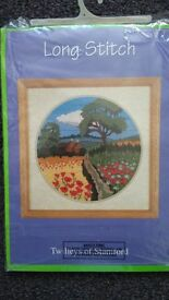 Poppy fields Long Stitch Tapestry/Embroidery Kit