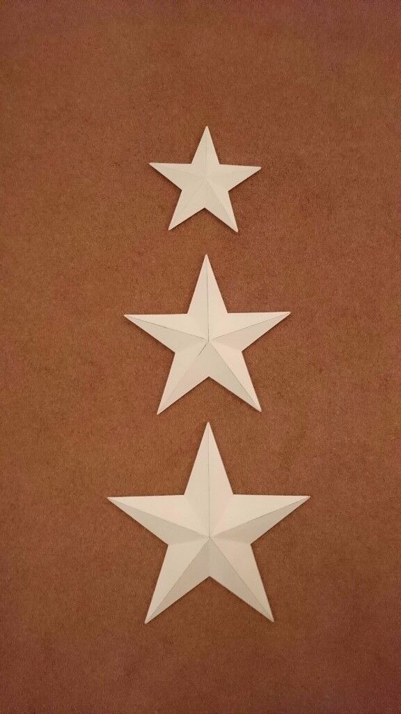 Set Of White Wooden Stars For Wall Hanging In Melbourn Cambridgeshire Gumtree