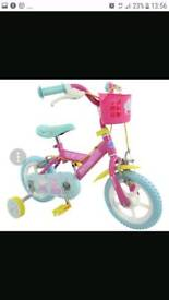 Peppa pig girls 12 inch bike with stabilisers BRAND NEW