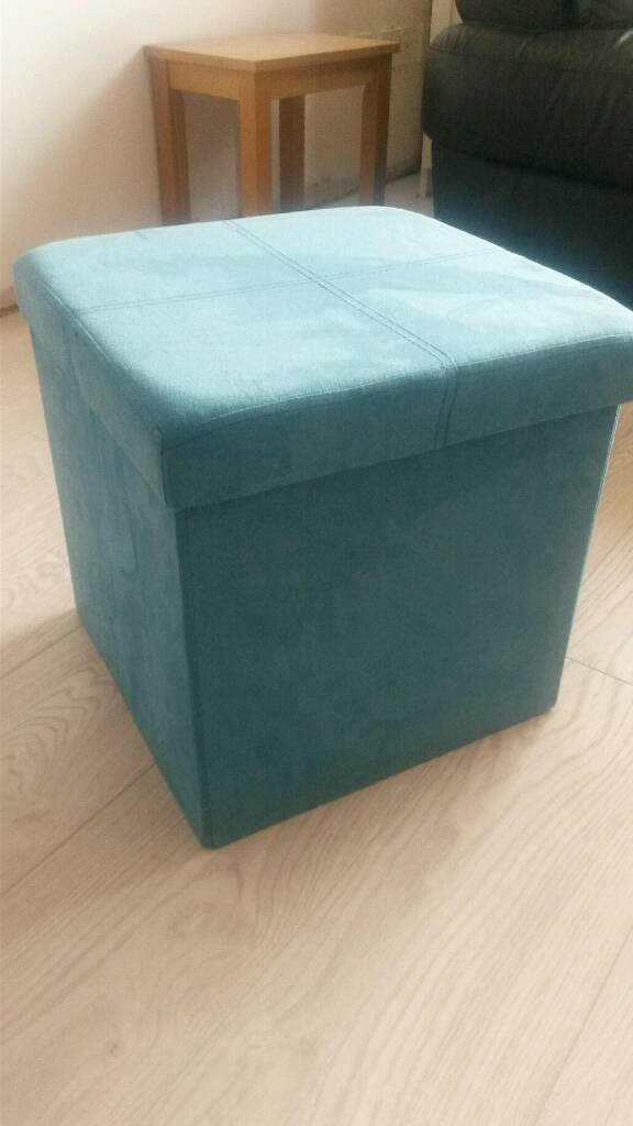 Storage boxin East Preston, West SussexGumtree - Turquoise/teal suede effect folding storage box. Suitable for toys /shoes / washing etc