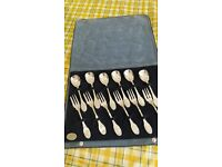 Set of 12 vintage silver cutlery