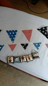 Lovely pirate themed bunting and mini cushions
