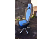 BLUE AND BLACK OFFICE CHAIR