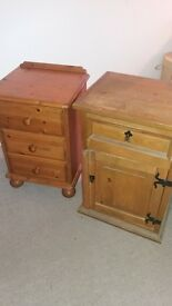 solid wood bedside cabnets