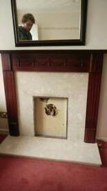Fire surround and Mantel