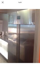 Commercial polar 1200 double door stainless steel fridge.