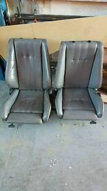 E30 front leather seats