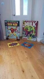 4 Retro Comic Signs/Posters