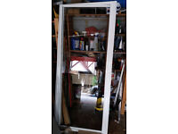2 No Shower Pivot Door & Frames available 1 white & 1 Chrome ...good condition.