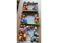 3x winnie the pooh 6x4 photo frames 3D characters on front collection from felixstowe