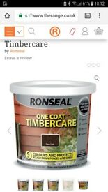 Ronseal fence paint x 10 tubs 5 litres