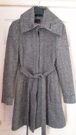 Ladies Next Ellegant Grey Coat Jacket size 12