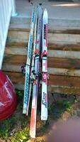 Three pairs of Rossignol skis