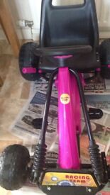 Girls pink go kart