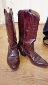 Crafted Leather Cowboy Boots (Artesania)