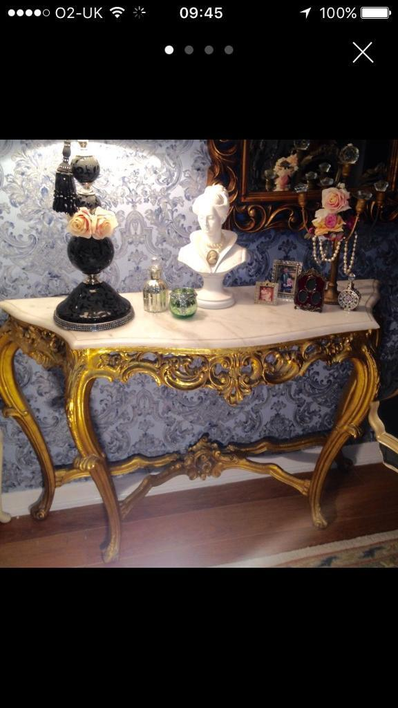 Rococo French Console Table