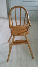 High Chair wooden by Ikea