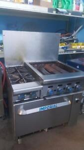 """IMPERIAL 24"""" CHARBROILER WITH 2 BURNER AND OVEN"""