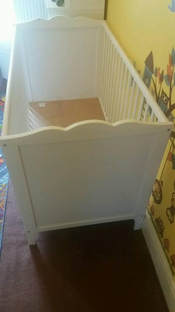 Ikea cot mattress & changing unit