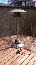 Nevada Tabletop Gas Patio Heater in Stainless Steel (Homebase)