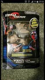 Spy gear stealth com walkie talkies NEW