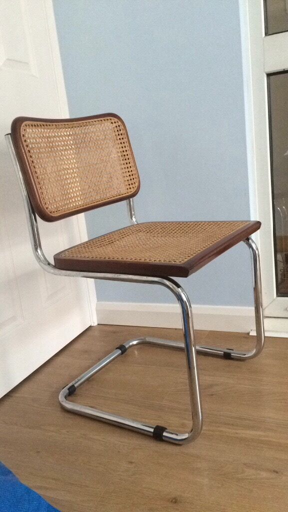 Wicker & metal s shape dining chairs