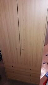 2 door 3 draw wardrobe