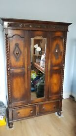 Antique Wardrobe and matching dressing table