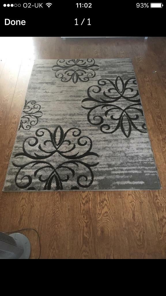 Grey and silver rug