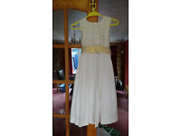 Ivory & Gold Bridesmaid Dress- BHS Age 11