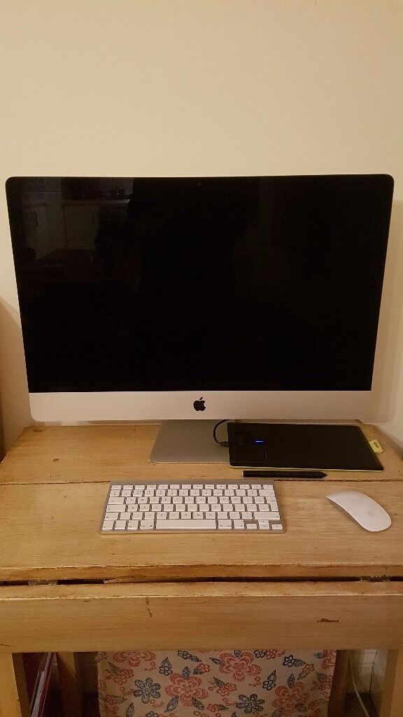 iMac desktop27 inchin Petersfield, HampshireGumtree - This is an Apple IMac I bought from John Lewis 3 years ago. Os X Yosemite, version 10.10.5 The monitor is 27 inches. Processor Intel core i5 2.9GHZ, Memory 8GB RAM Graphics NVIDIA Geforce GTX 660M 512MB Also included apple keyboard and mouse. Bamboo...