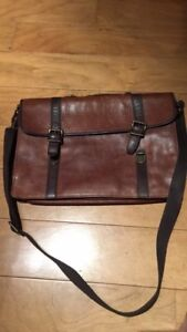 Fossil Leather Work Bag